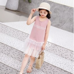 Kids Girl Have One Cotton Pink Dress