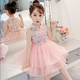[Pre-Order] 026 CNY Kids Girl Embroidery Dres