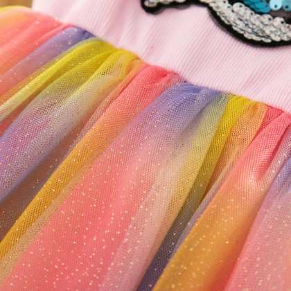 8002172 [Pre-order] Kids Girl Unicorn Rainbow Dress