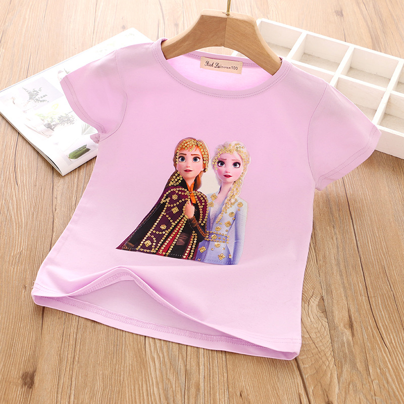 1003939 Kids Girl Frozen Top With Light