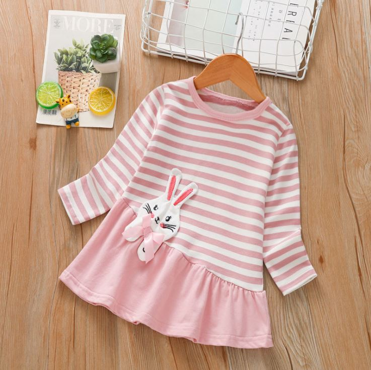 1005902 Kids Girl Longsleeve Rabbit Top