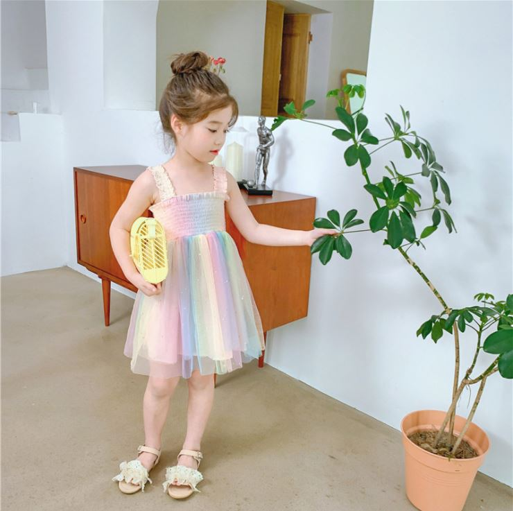 1005788 Kids Girl Rainbow Dress