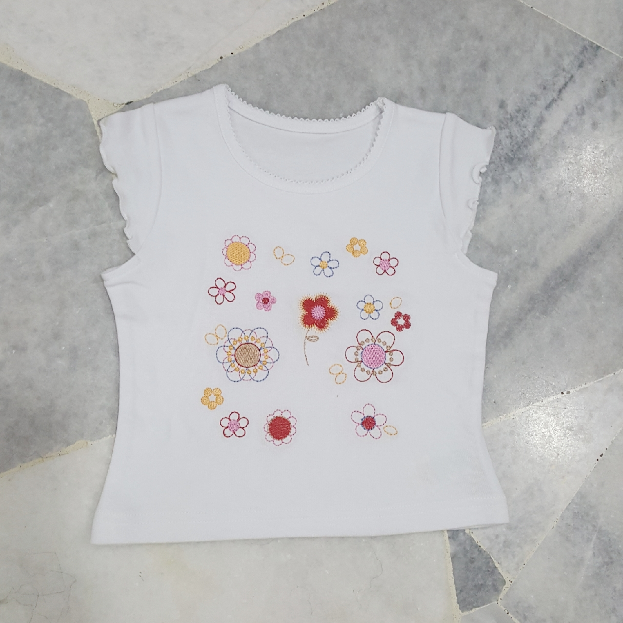 Baby Flower Top (White)