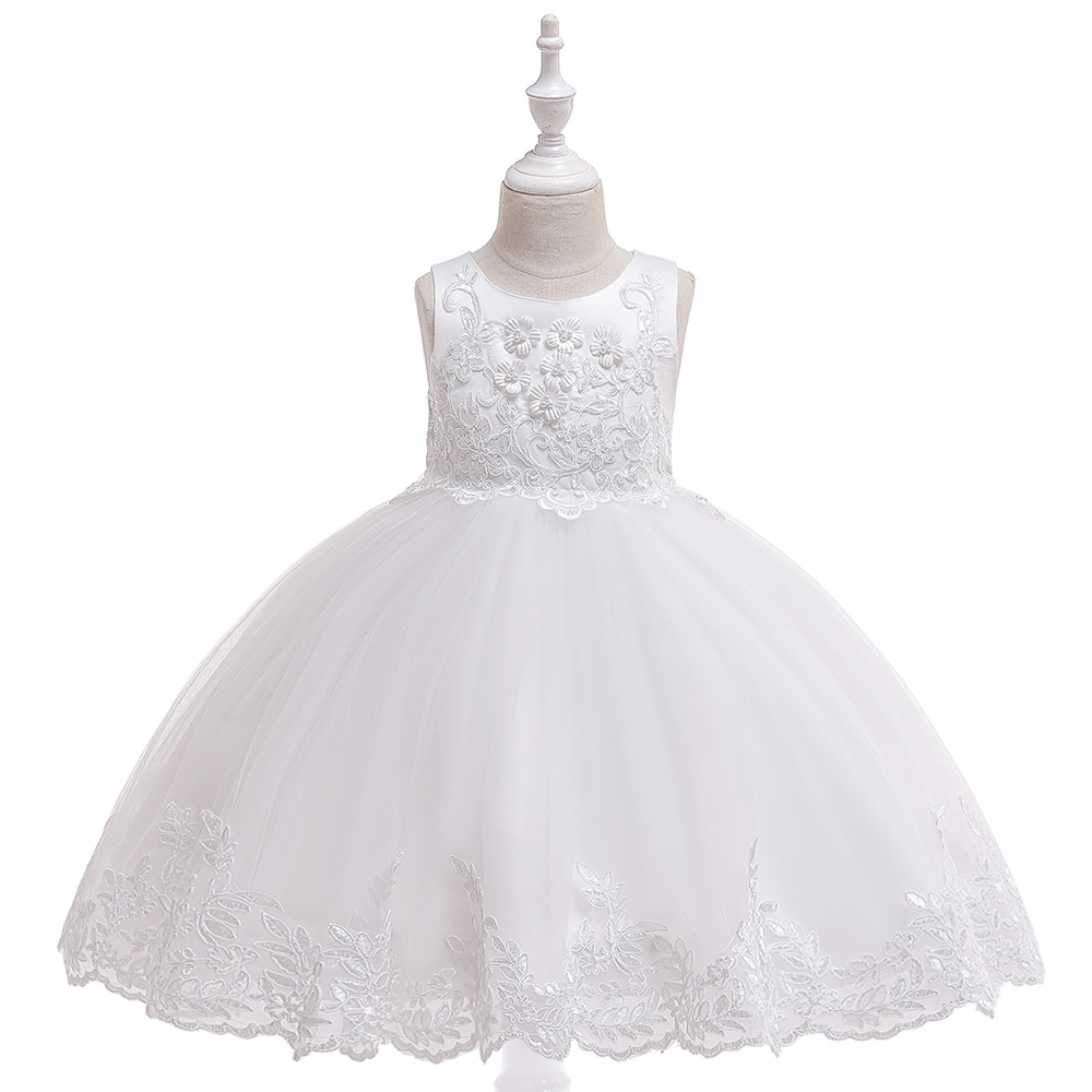 Wendy Kids Girl Dress White Dress Princess Dress Party Dress Wedding Dress Birthday Dress
